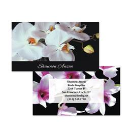 Ornamental Orchids Double-Sided Calling Cards