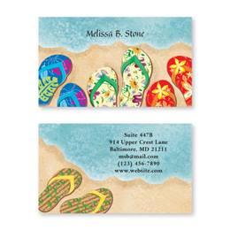 Baja Beach Flip Flops Double-Sided Calling Cards