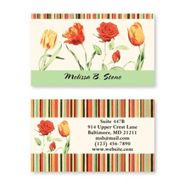 True Tulips Double-Sided Calling Cards