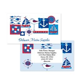 Fun Nautical Emblems Double-Sided Calling Cards