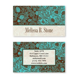 Pretty Paisley Double-Sided Calling Cards