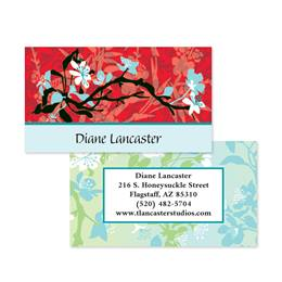 Asian Screen Art Double-Sided Calling Cards