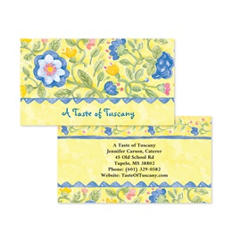 Tuscan Field Flowers Double-Sided Calling Cards