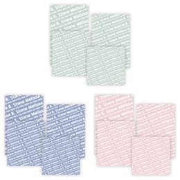 Pastel Personalized Name Memo Pads