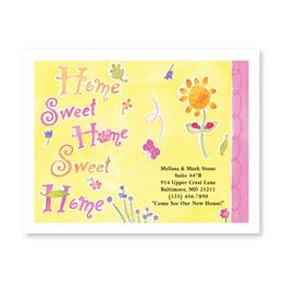 Home Sweet Home Bright New Address Postcards