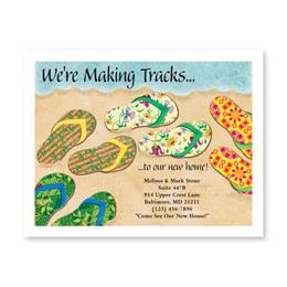 Baja Beach Flip Flops New Address Postcards