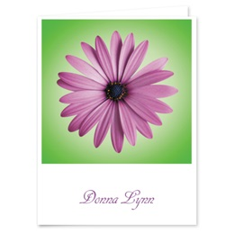 Personalized Photo Floral Note Cards
