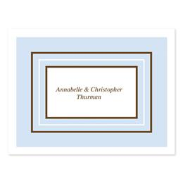 Thrice Bordered Blue Personalized Note Cards