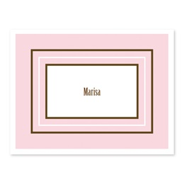 Thrice Bordered Pink Note Cards