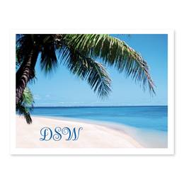 Tropical Paradise Personalized Note Cards