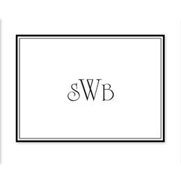 Sophisticated Monogram Personalized Note Cards