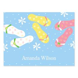 Flip Flops & Dots Personalized Note Cards