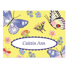 Butterfly Medley Personalized Note Cards