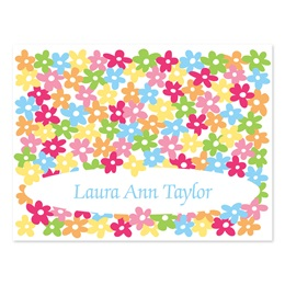 Flower Confetti Personalized Note Cards