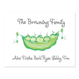 Family Peas in a Pod Personalized Note Cards