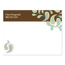 Chocolate Dipped Paisleys 4x3 Personalized Post-It Notes