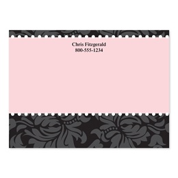 Damask Chic and Pink 4x3 Personalized Post-It Notes
