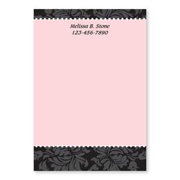 Damask Chic and Pink 4x6 Personalized Post-It Notes