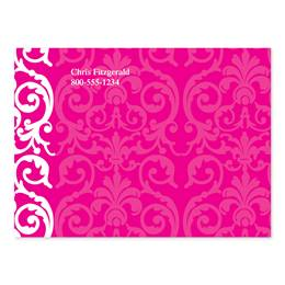 Elegant Lace Hot Pink 4X3 Personalized Post-It Notes