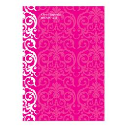 Elegant Lace Hot Pink 4x6 Personalized Post-It Notes