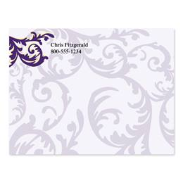 Purple Damask 4x3 Personalized Post-It Notes