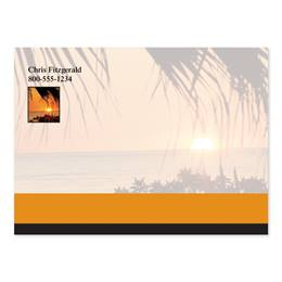 Sunset and Palm Trees 4x3 Personalized Post-It Notes