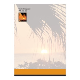 Sunset and Palm Trees 4x6 Personalized Post-It Notes