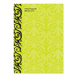 Elegant Lace Lime Green 4x6 Personalized Post-It Notes