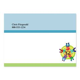 All Together Now 4x3 Personalized Post-It Notes