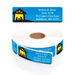 Hope Shines Bright Designer Rolled Address Labels with Elegant Plastic Dispenser