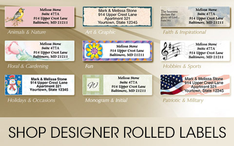 Return Address Labels at Artistic Labels