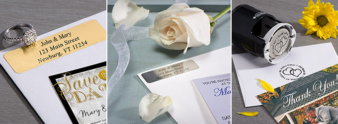 Wedding Address Labels & Wedding Address Stampers