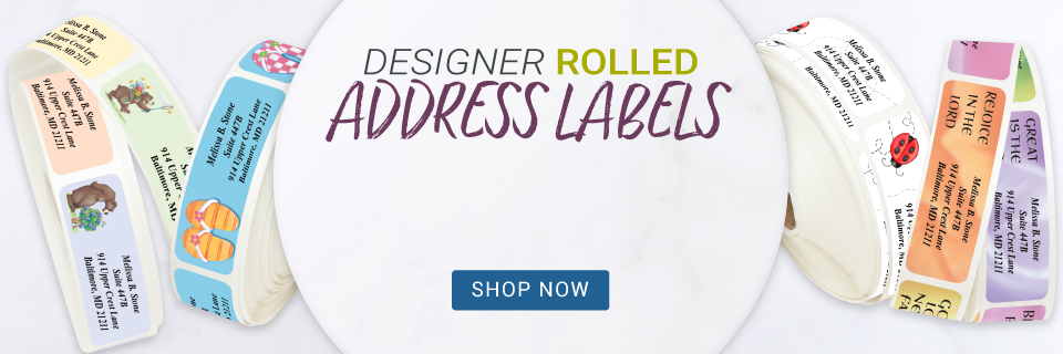 Designer Rolled Address Labels