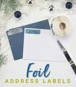Christmas Foil Address Labels