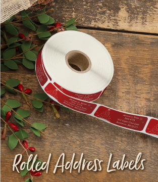 Christmas Rolled Address Labels
