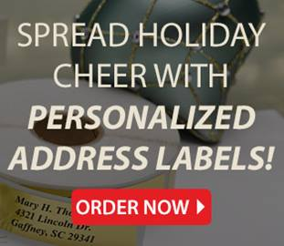 Shop Personalized Holiday Address Labels